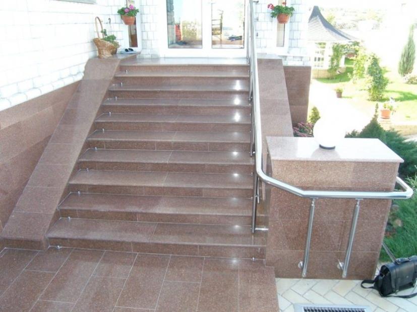Лестницы и ступени из гранита - 9